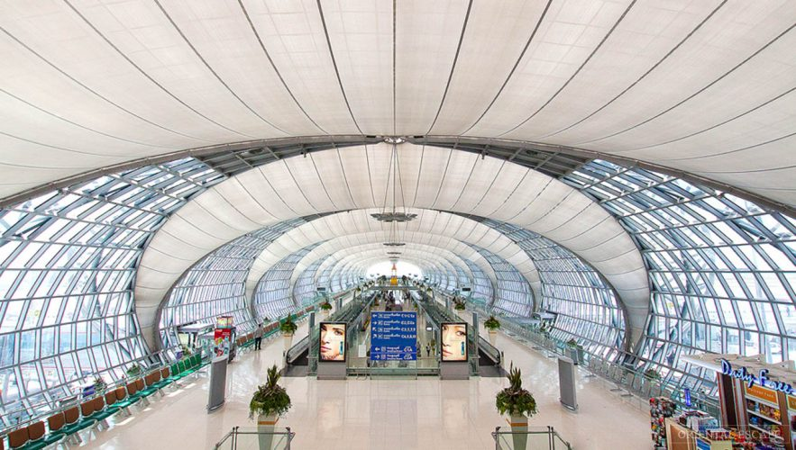 Bangkok International Airport, one of the most visited